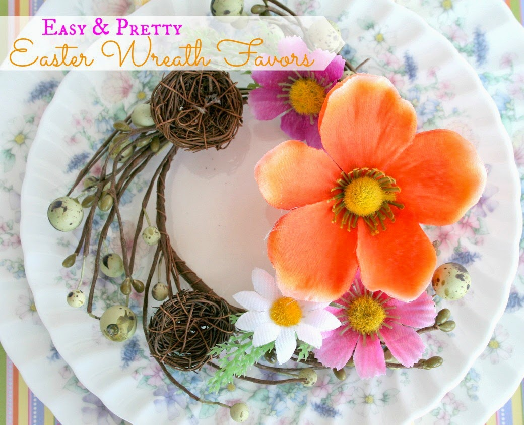 Easter Wreath Table Favours