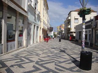 Portuguese Sidewalk street  photo - Figueira da Foz  - Portugal