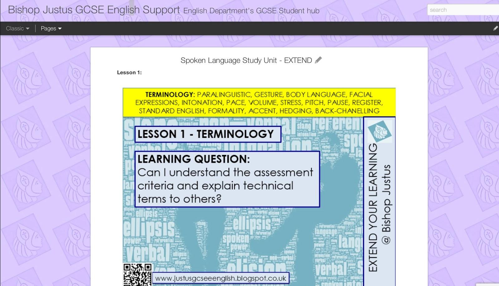 spoken language gcse study Spoken language in gcse 9-1 english language (from 2015) 9-1 gcse english language: spoken language study - duration.