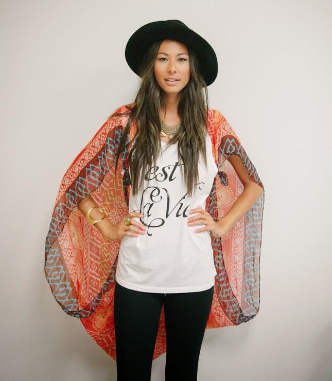 DIY Scarf Kimono Wrap