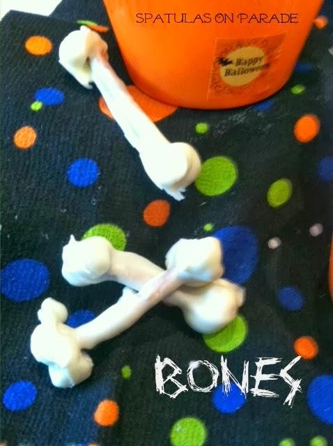 Halloween snacks pretzel bones