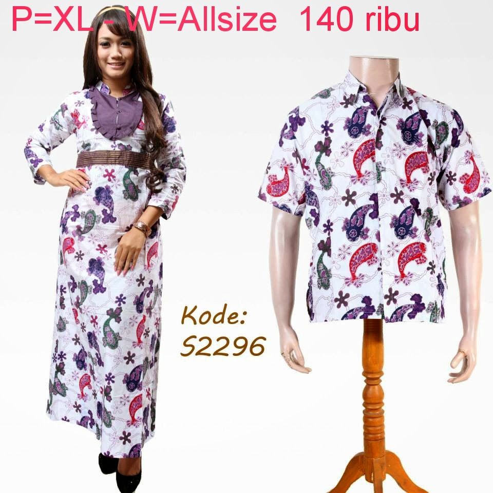Baju Couple Batik Modern Model Terbaru