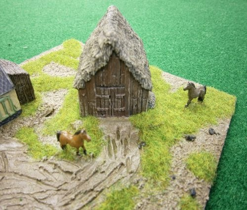 PS40 WWII Russian thatched barn, wooden walls