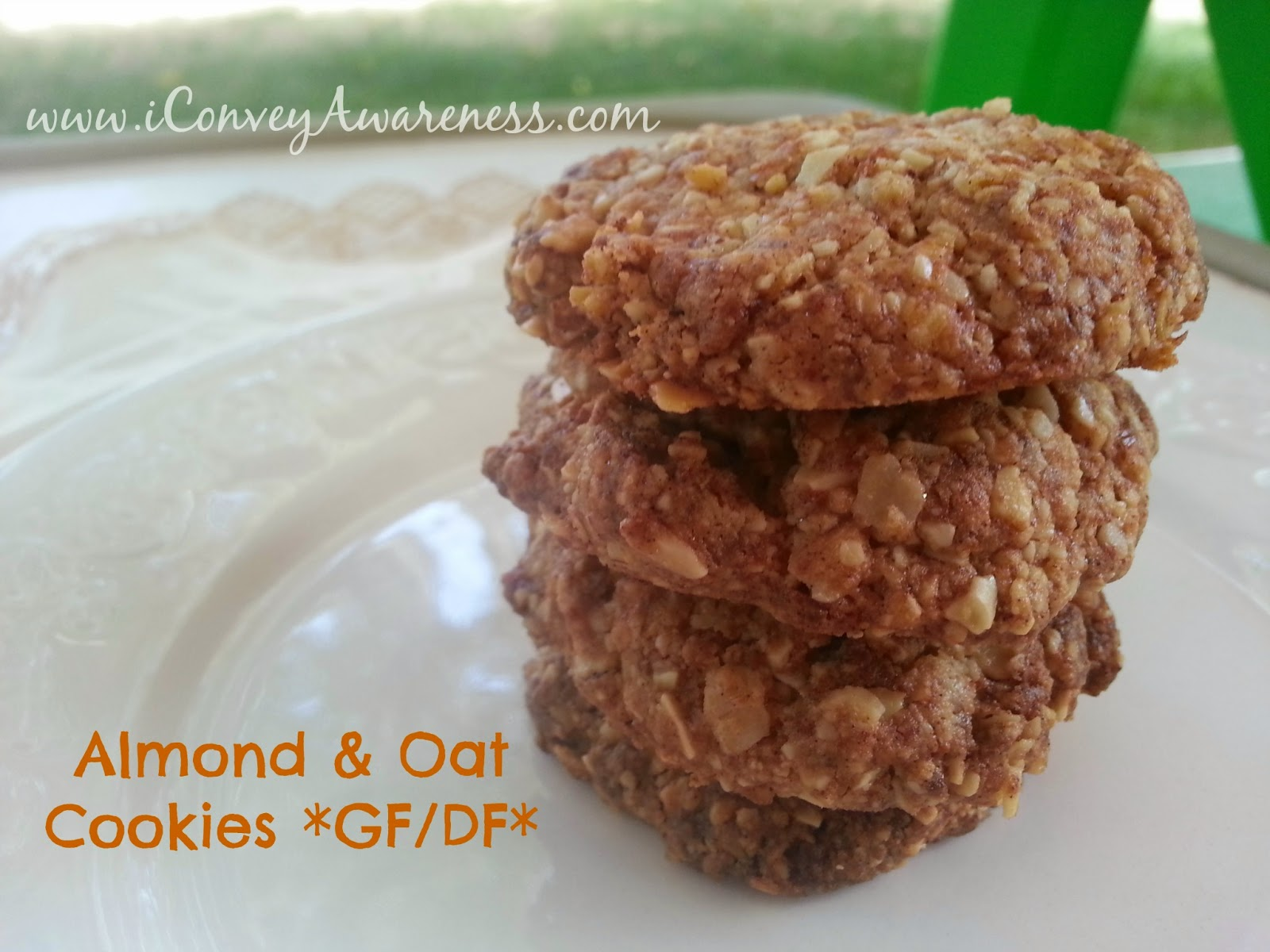 Convey Awareness | Gluten and dairy free almond & oat cookies