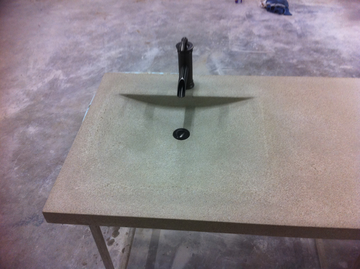 This is a custom molded sink. As you could imagine this sink is super ...