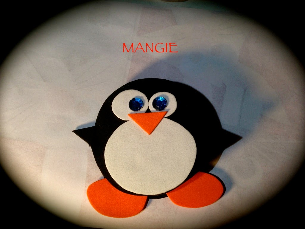 Porta notas pingüino foamy