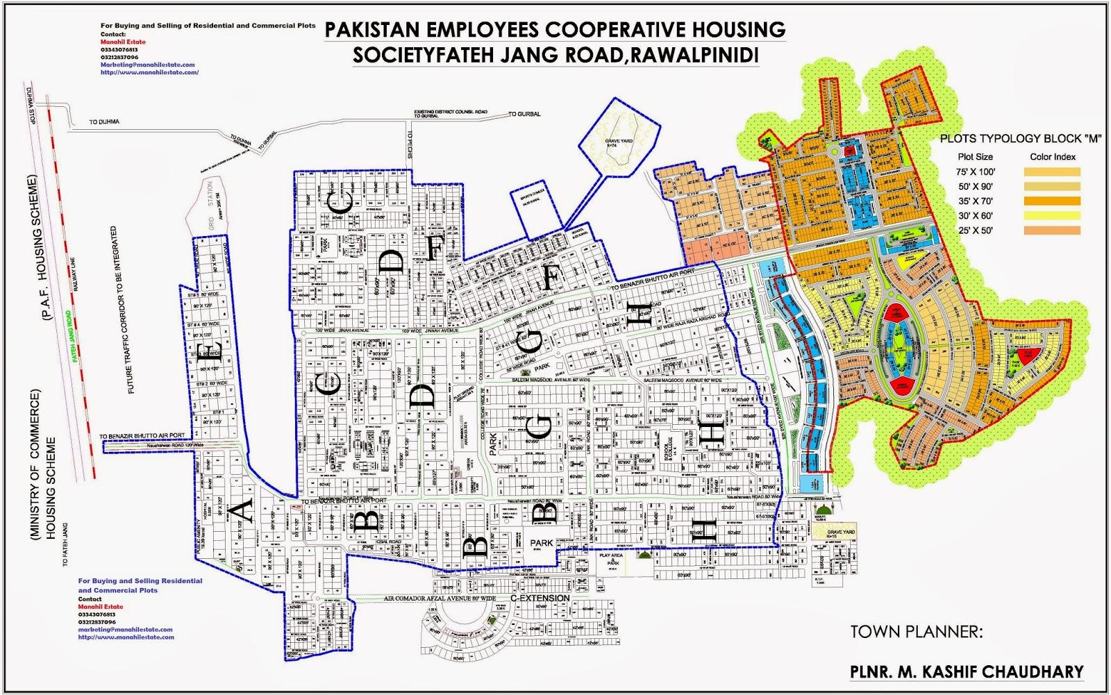 pechs housing society islamabad map