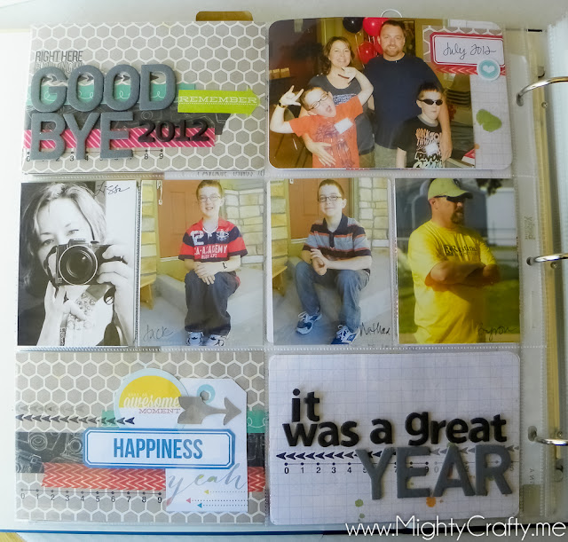 2012 Closing Page for Project Life album by www.MightyCrafty.me