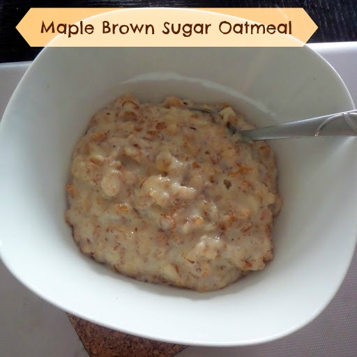 Homemade Maple Brown Sugar Oatmeal:  A great cold weather breakfast of  warm, creamy oatmeal sweetened with brown sugar and maple syrup