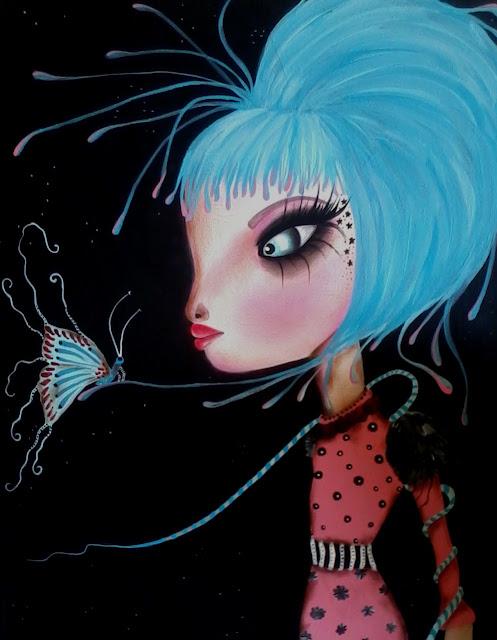 """Silly Dreamz""  11 x 14  Acrylics on Canvas by Dottie Gleason"