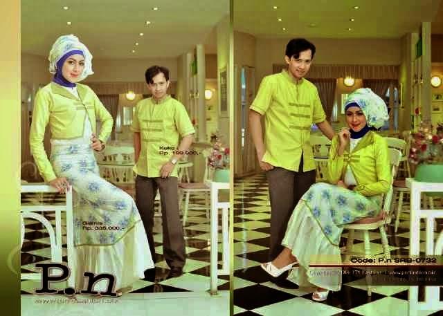 pnf hijau pisang baju couple muslim trendy edisi lebaran
