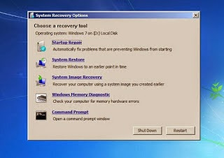 Cara Repair Windows 7 dengan Startup Repair