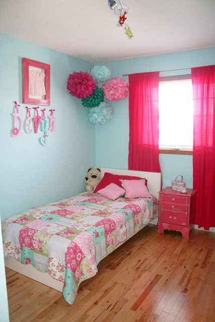 Bouncing off the walls finally big girl room reveal - Girl colors for bedrooms ...