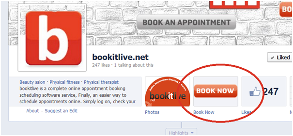 Online appointment booking software on facebook