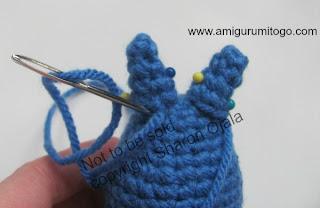 blue crochet totoro ears