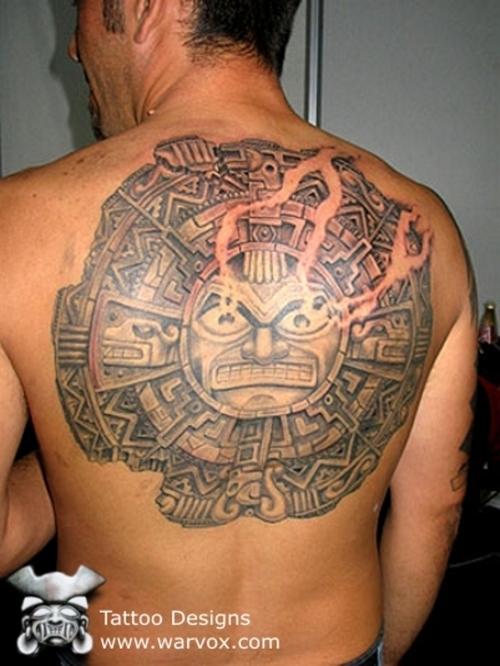 tattoo piercing body art aztec mayan inca sun tattoo. Black Bedroom Furniture Sets. Home Design Ideas