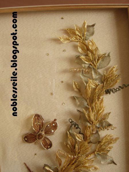 titanyum nakışı çiçekler