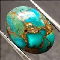 Batu Permata Pirus Persia Urat Emas
