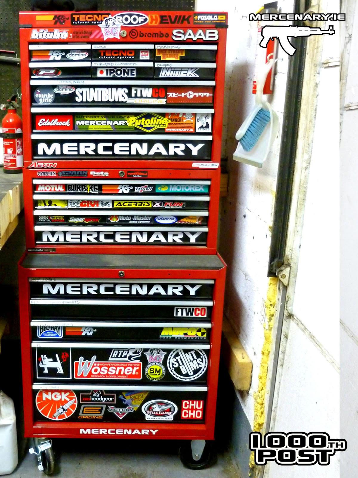 Mercenary Garage Post No 1000