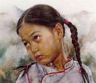 Rostros de Niños de China Meridional