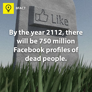 facebook facts , By the year 2112,there will be 75 million Facebook profiles of dead people