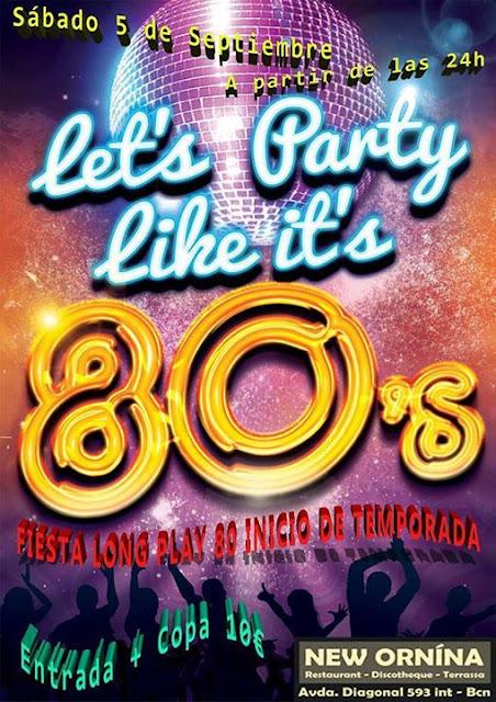 Flyer Fiesta Long Play 80 (Comienzo de Temporada)