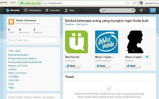 Cara Membuat Akun Twitter Baru 3