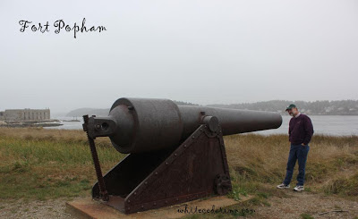 Civil War cannon at Fort Popham