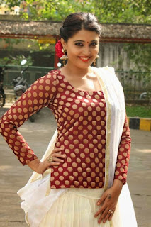 Tamil Actress Sandra Amy Picture Gallery at Thoppi Movie Audio Launch 10.JPG