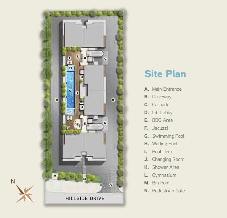 Site Plan of Hilbre Condo
