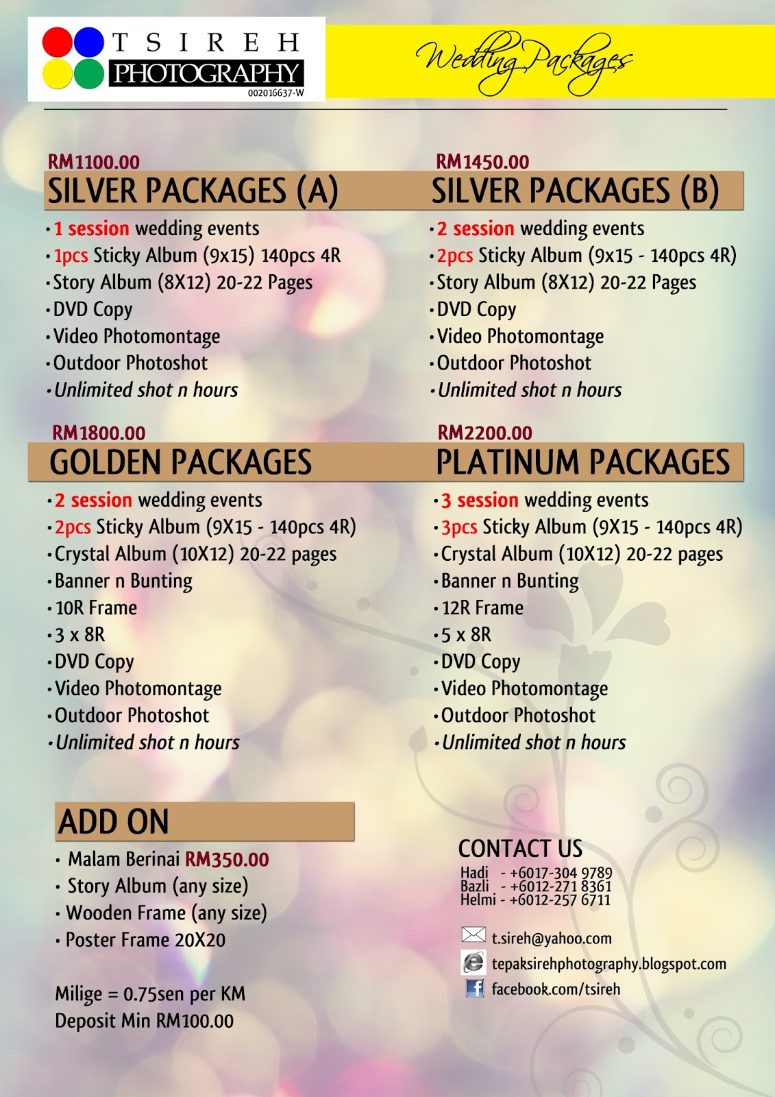 Wedding photography packages pengantinkahwincom for Best wedding photography packages