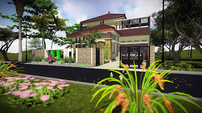Desain Rumah Mewah Type 340 2 Lantai