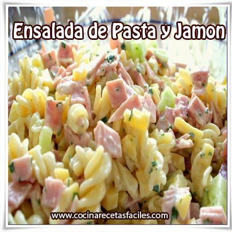 Recetas de pastas , receta de ensalada de pasta y jamón