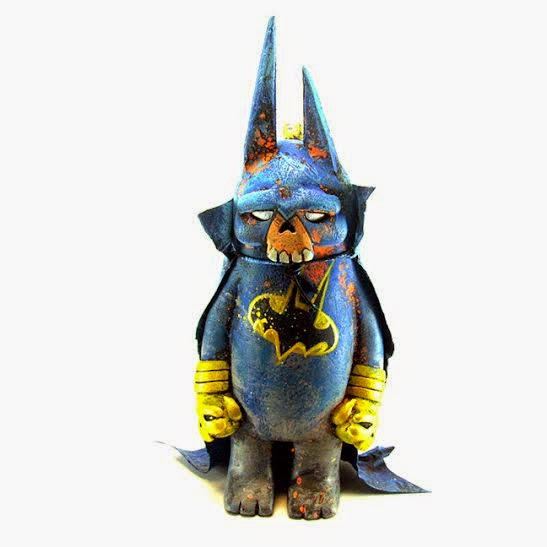 "C2E2 Exclusive Super Hero ""Dead As F*ck"" BearChamp Custom Resin Figure Series by Leecifer - Batman"