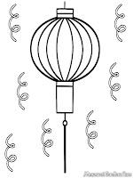 Gambar Lampu Lampion Untuk Diwarnai Dalam Lomba Mewarnai Gambar