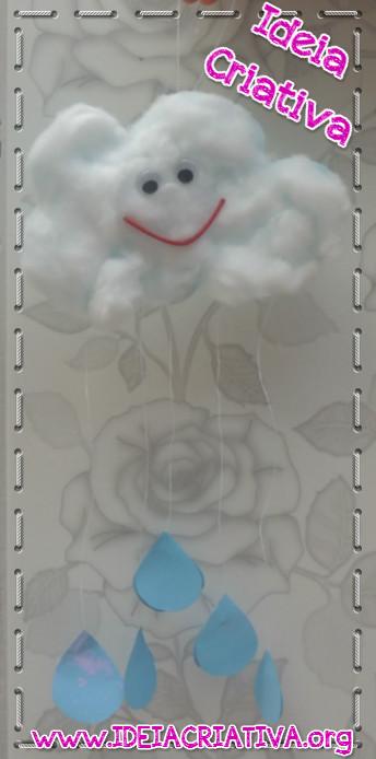 Móbile de Nuvem Atividade para Crianças