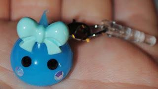 Blue Kawaii Teardrop Phone Charm