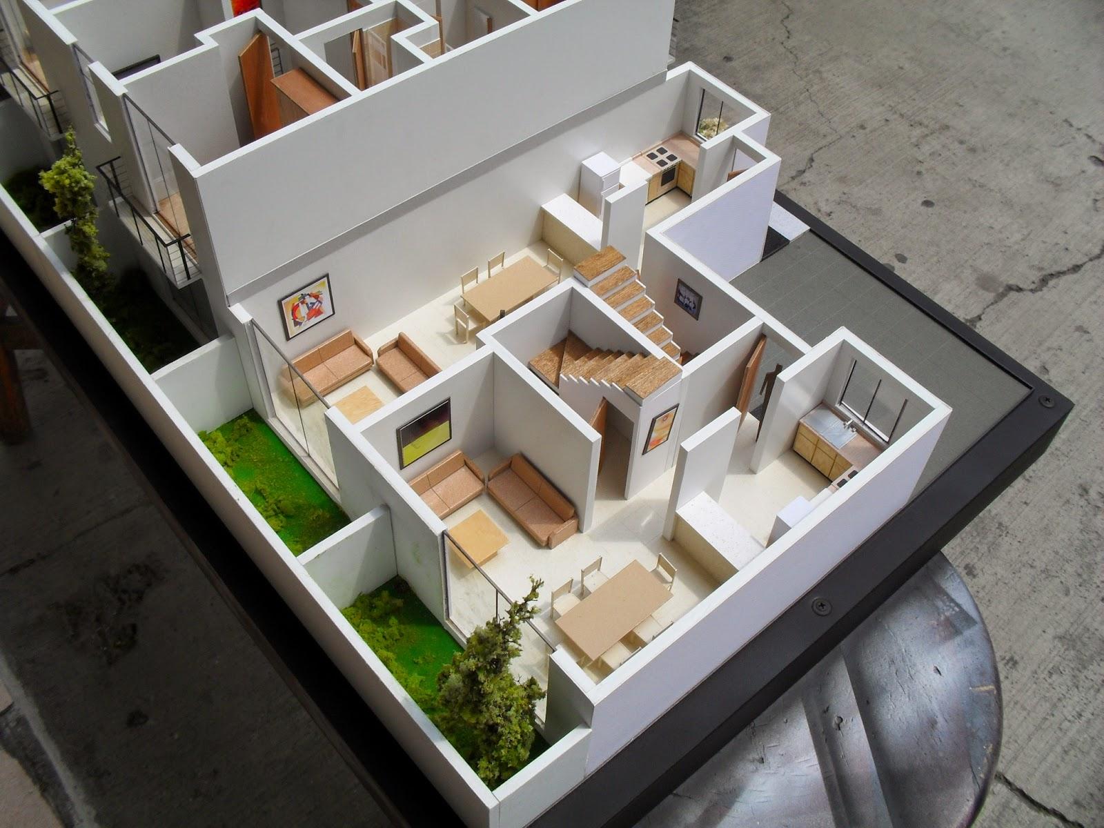 Maqueta de casa habitacion for Ideas para reformar una vivienda