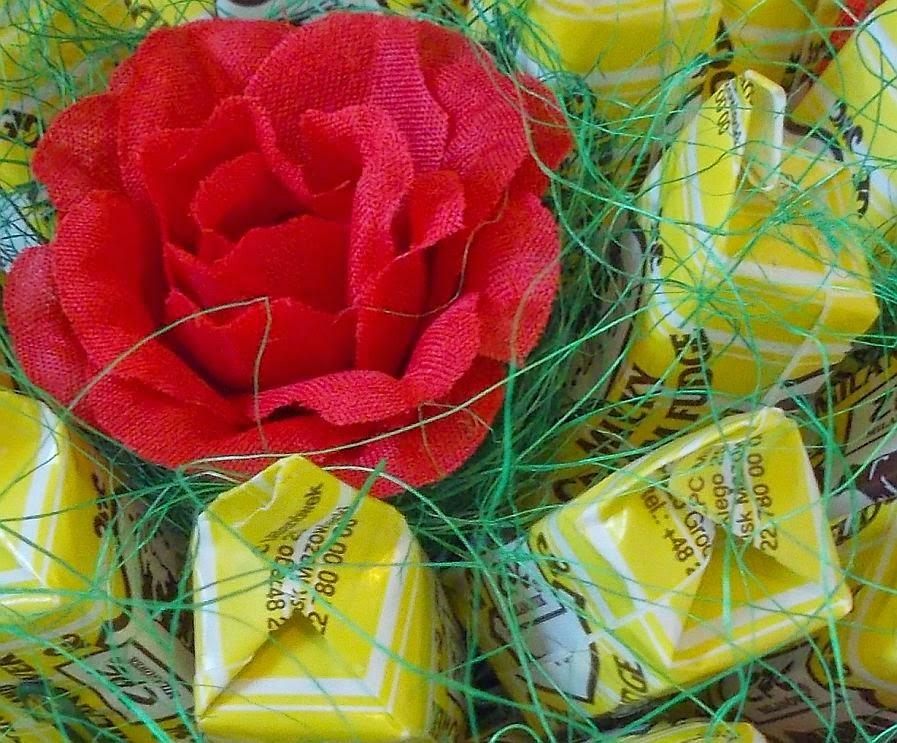 Słodki bukiet z krówek