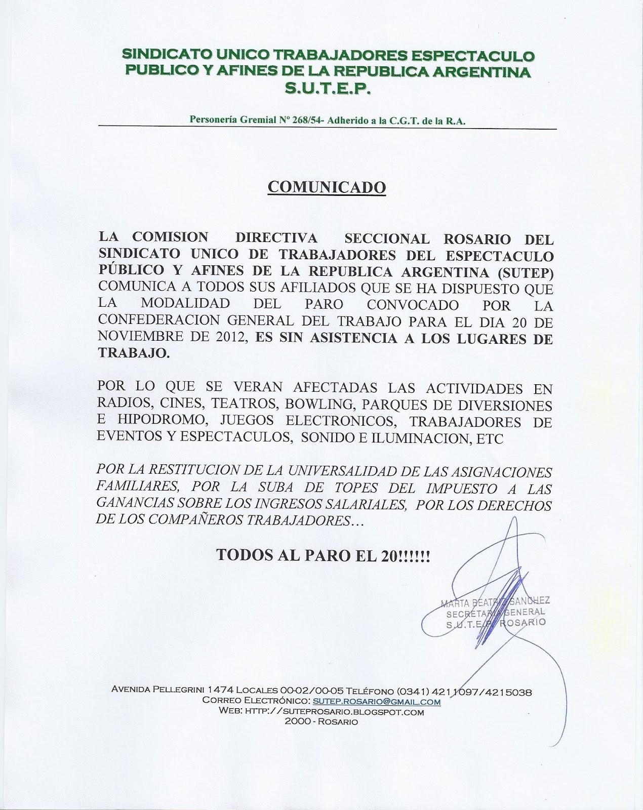 SUTEP Rosario