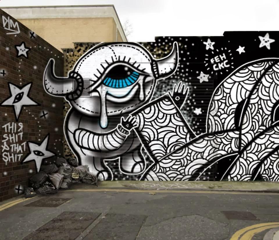 Digital wall graffiti - All Graffiti Drawn Using Graffiti Swat