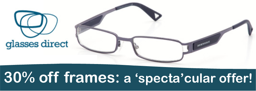 Glasses Direct 'specta'cular offer
