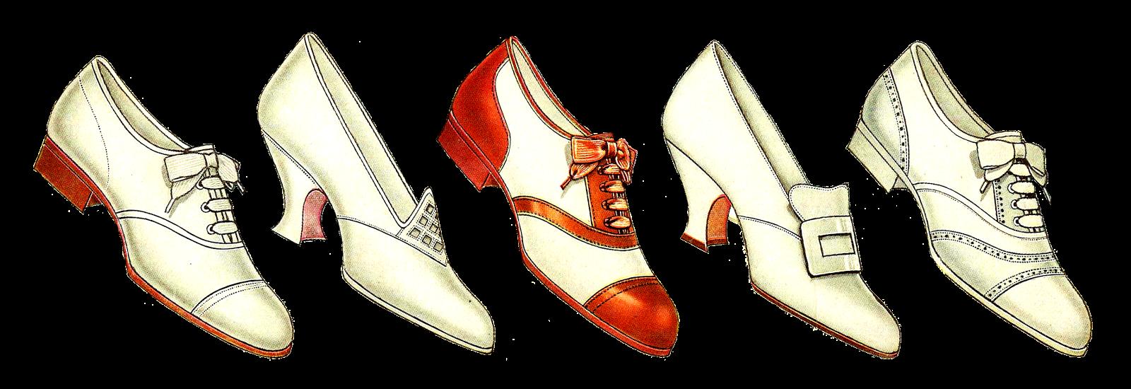 Excellent  Free Fashion Clip Art Women39s Vintage Shoe Fashion Of 5 Shoes Border