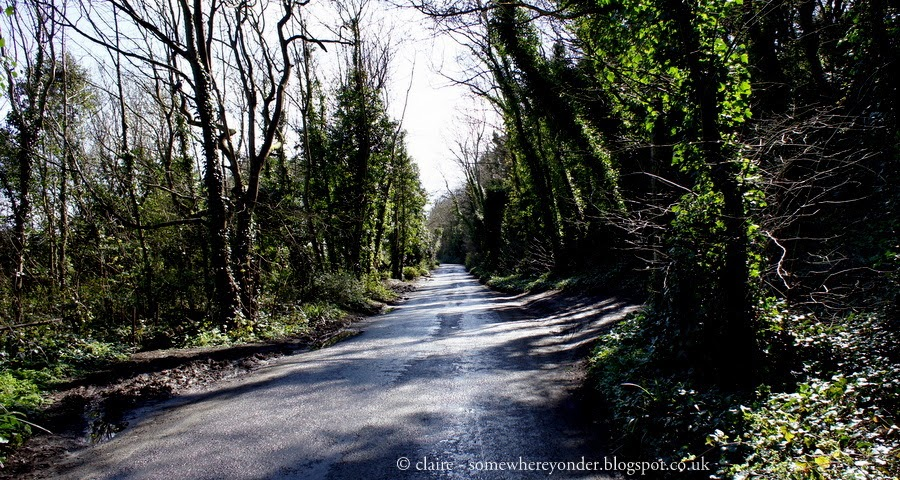 Road section - walking Deal to Dover, Kent, UK