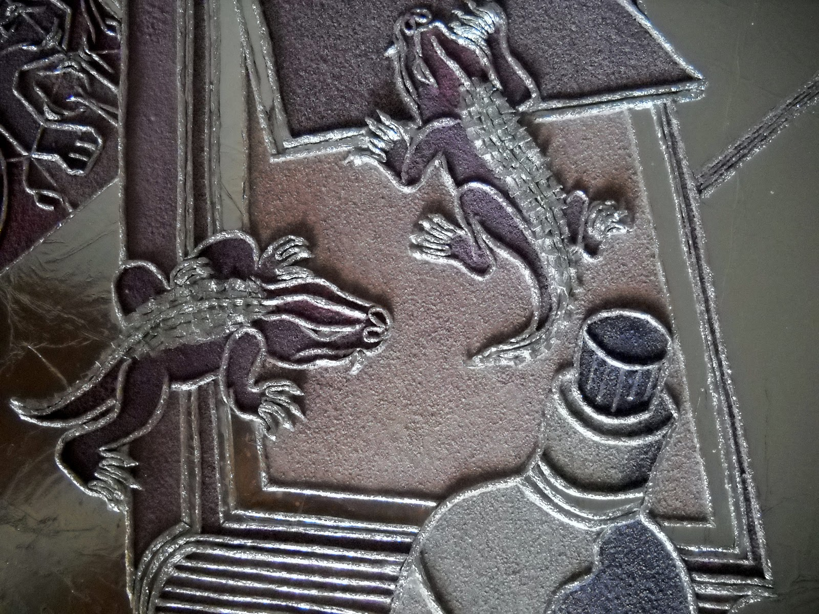 Roberta lazzarato quadri di sabbia e stagnola rettili for Disegni di bungalow contemporanei