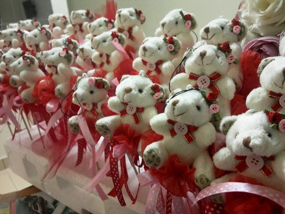 bunga telur teddy bear, bunga telur teddy bear murah, bunga telur teddy bear comel, tema merah, teddy bear cute, doorgift, hadiah