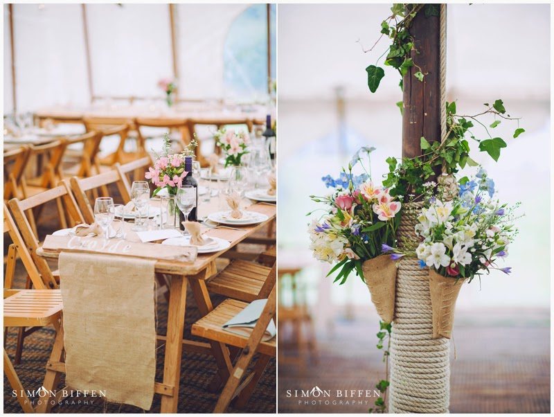 Rustic county wedding styling