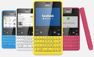 Gambar Nokia Asha 210 Ponsel QWERTY Murah Dengan Tombol WhatsApp