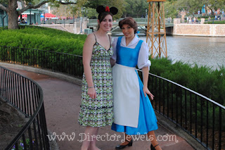 Beauty and the Beast, disney world, epcot, 2010, paris, belle, beast,