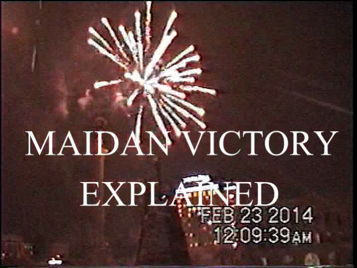 Maidan Fireworks Feb 22, 2014